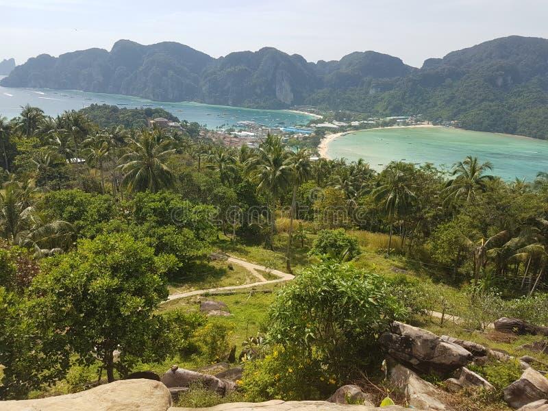 Точка зрения Phi Phi Koh стоковое изображение