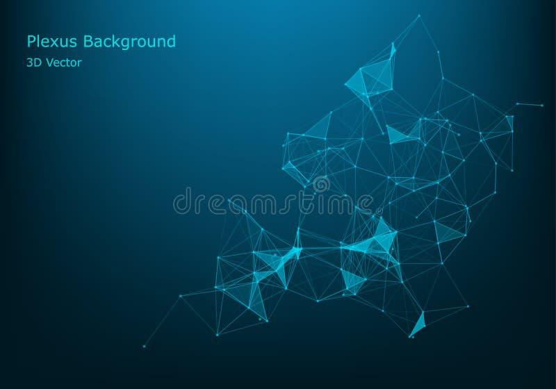 Точки и линии вектора соединяясь Соединение глобальной вычислительной сети Геометрическая соединенная абстрактная предпосылка бесплатная иллюстрация
