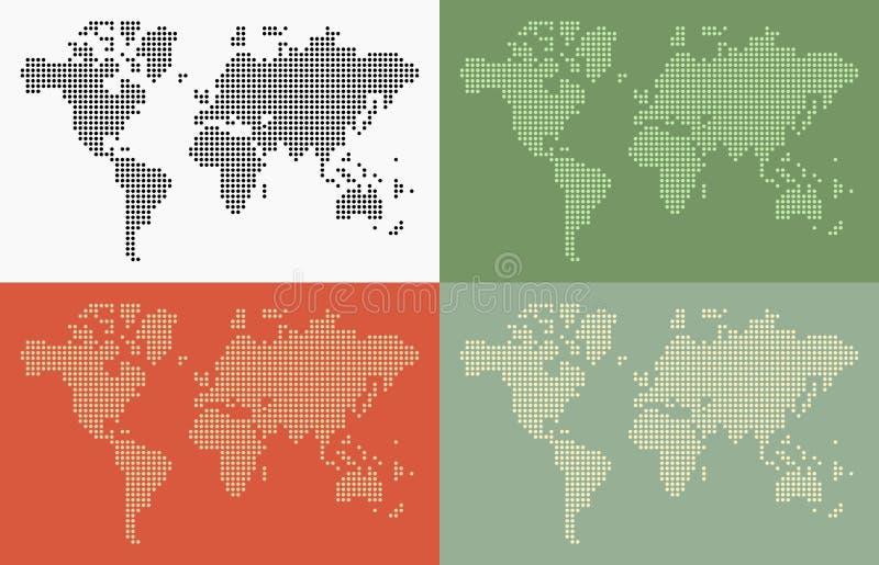 Точки карты мира бесплатная иллюстрация
