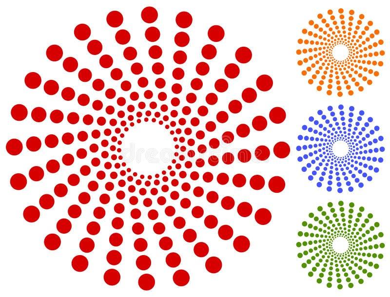 Download Точки, мотив кругов круговой, элемент Излучающ, радиальные точки Иллюстрация вектора - иллюстрации насчитывающей кругово, royalty: 81814198