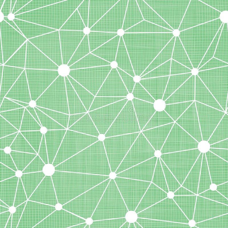 Точки мяты зеленые связывают проволокой картину текстурированную тканью стоковое изображение rf