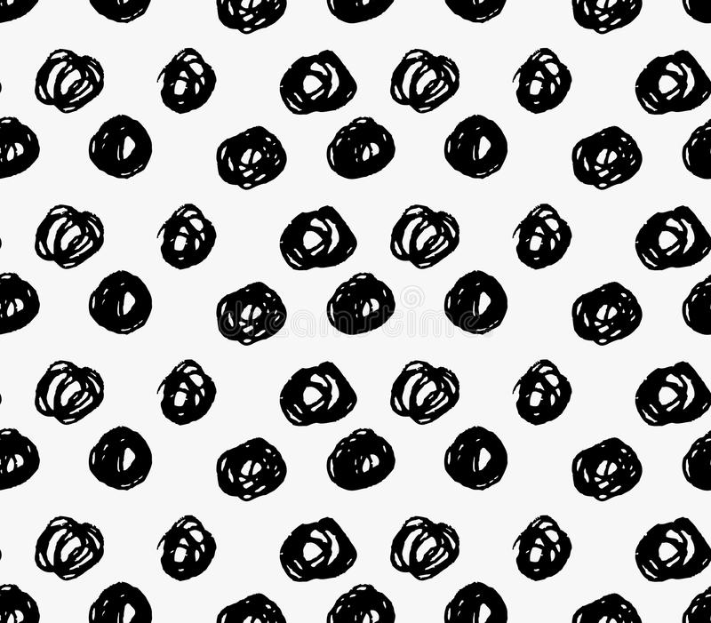 Точки scribble черной отметки большие иллюстрация вектора