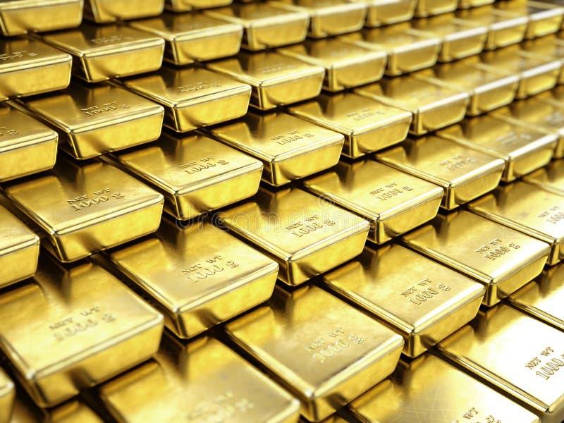 точное золото в слитках иллюстрация штока