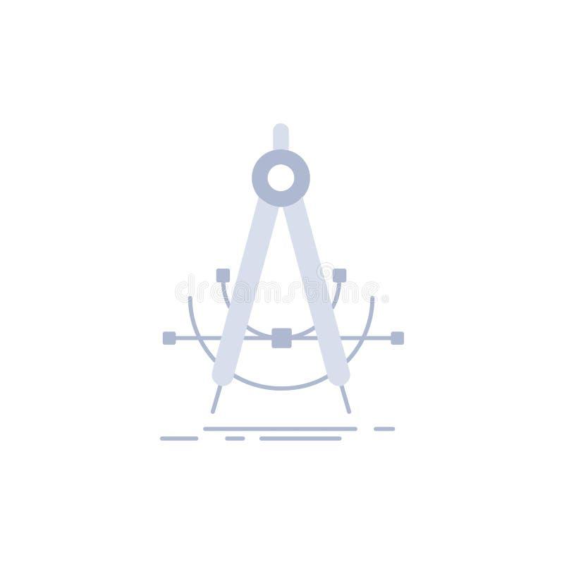 Точность, accure, геометрия, компас, вектор значка цвета измерения плоский иллюстрация штока