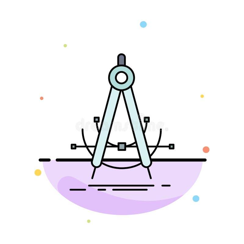 Точность, accure, геометрия, компас, вектор значка цвета измерения плоский иллюстрация вектора