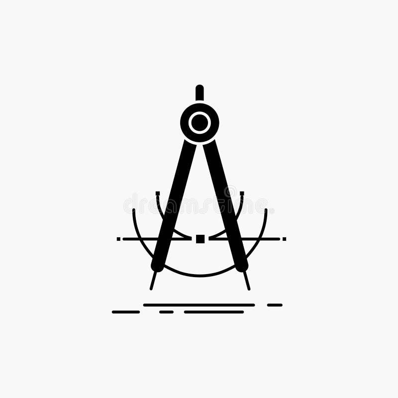 Точность, accure, геометрия, компас, значок глифа измерения r бесплатная иллюстрация