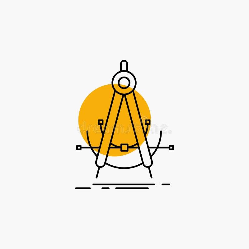 Точность, accure, геометрия, компас, линия значок измерения бесплатная иллюстрация