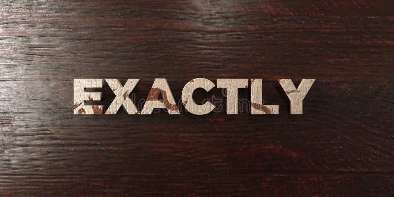 Точно - grungy деревянный заголовок на клене - 3D представило изображение неизрасходованного запаса королевской власти бесплатная иллюстрация