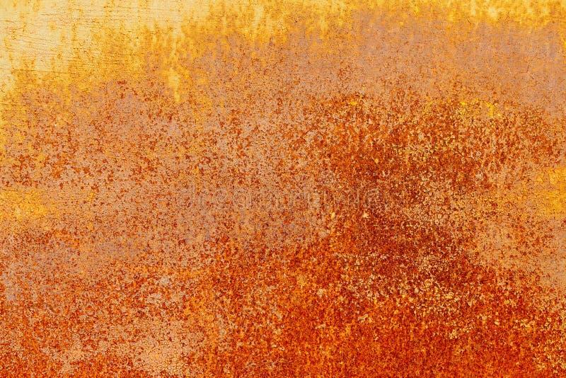 Точный grained заржаветый металл с краской шелушения стоковое фото rf