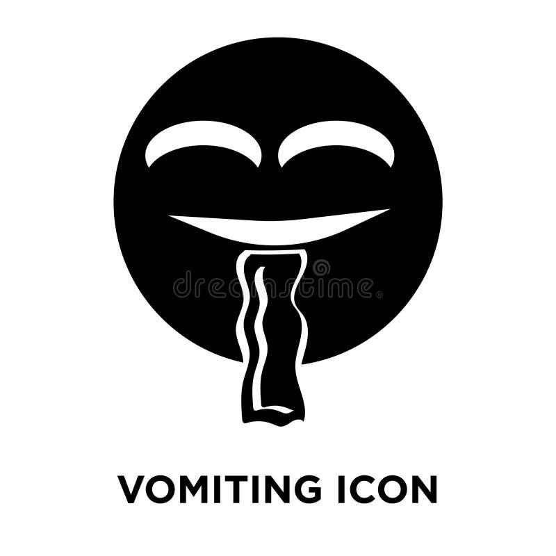 Тошнить вектор значка изолированный на белой предпосылке, концепции логотипа иллюстрация вектора