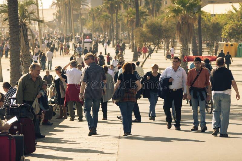 Толпить Барселона стоковая фотография rf