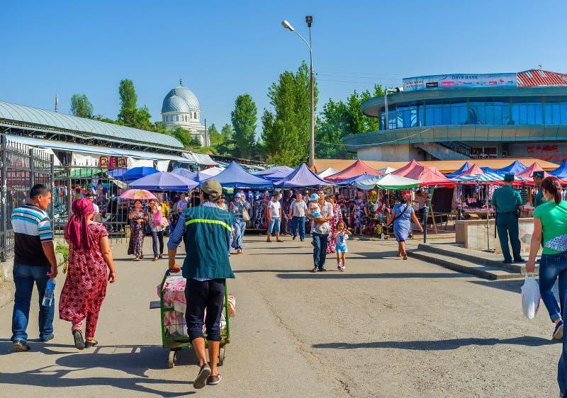 Толпить рынок стоковое фото rf