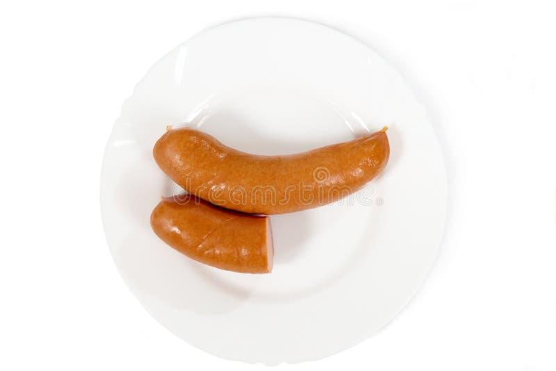 Толстая сосиска от мяса стоковая фотография rf