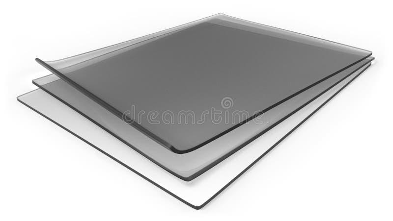 Толстые прозрачные листы силиконовой резины стоковые изображения
