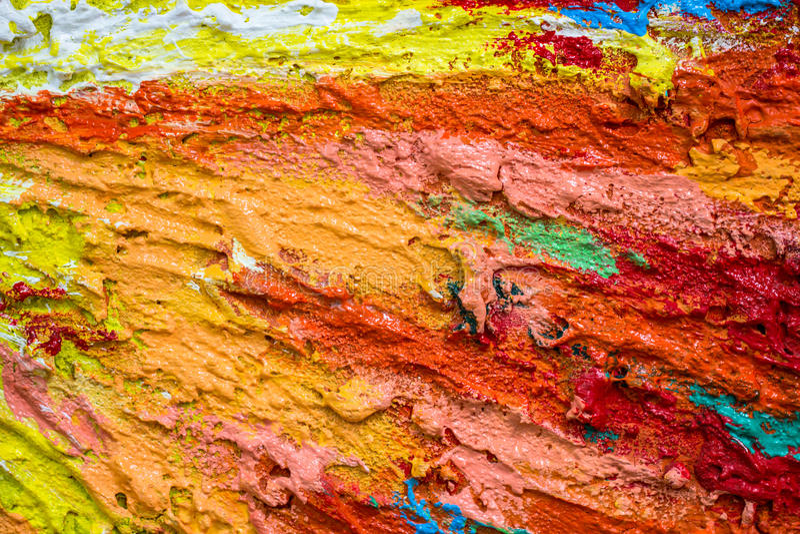 Толстые плотные слои краски как абстрактное современное грязное Пэт текстуры стоковые фото