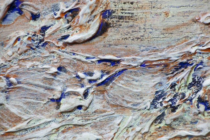 Толстые слои краски и красочной мешанины стоковые фото