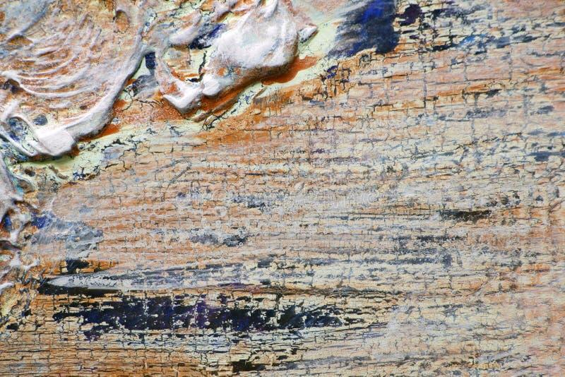 Толстые слои краски и красочной мешанины стоковая фотография