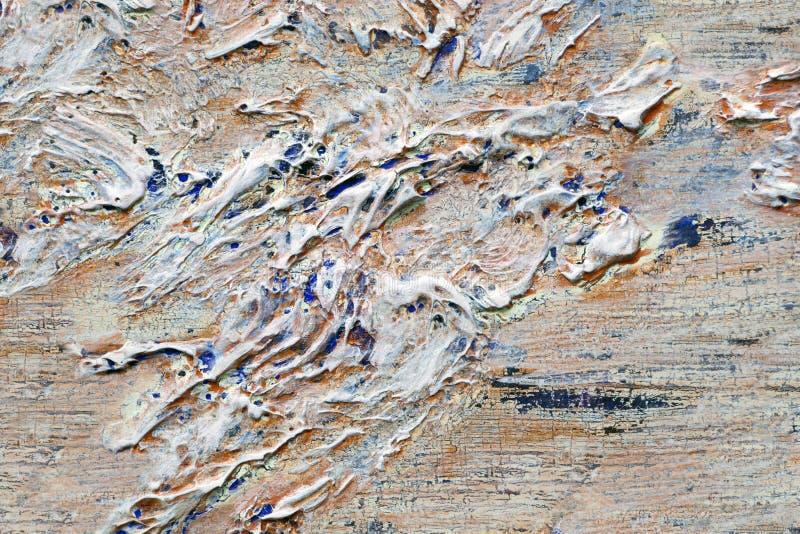 Толстые слои краски и красочной мешанины стоковая фотография rf