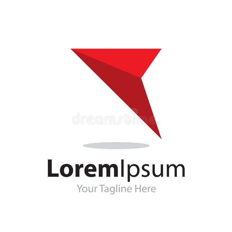 Только логотип значка элементов концепции дела стрелки пути передний красный бесплатная иллюстрация