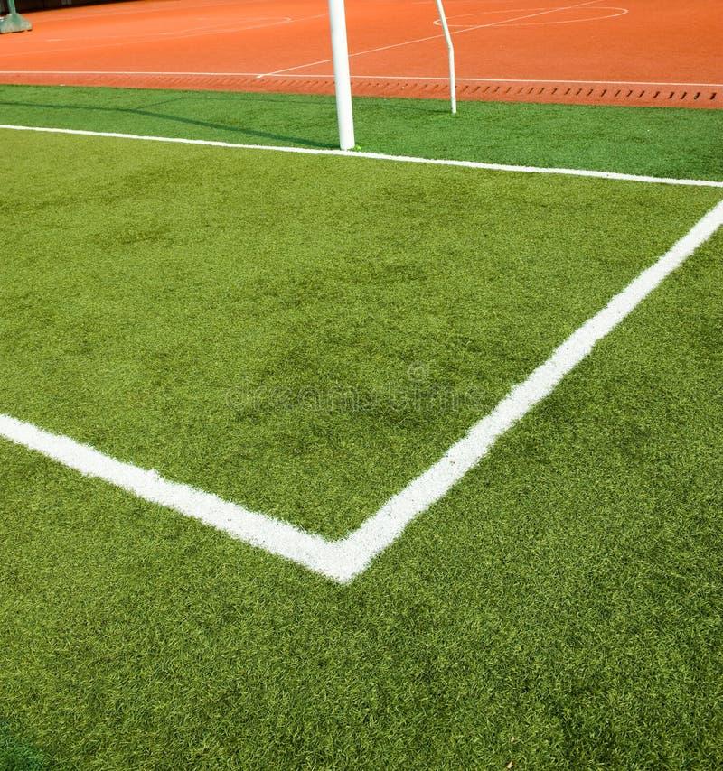 трава выравнивает белизну футбола стоковая фотография rf