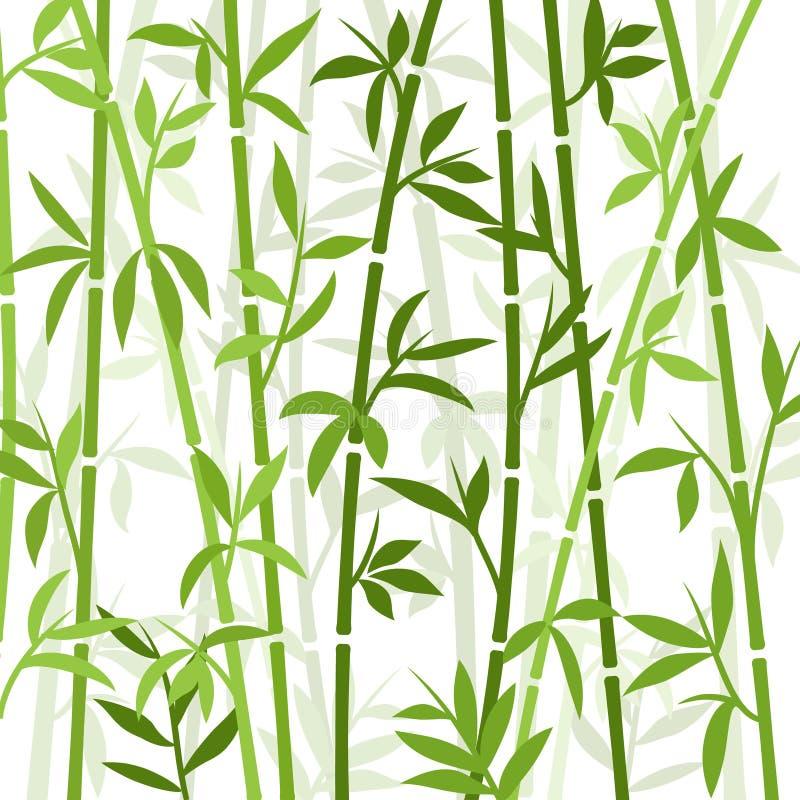 Трава обоев завода бамбуковой предпосылки японская азиатская Бамбуковая картина вектора дерева иллюстрация штока