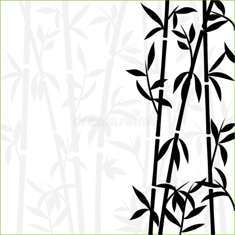 Трава обоев завода бамбуковой предпосылки японская азиатская Бамбуковая картина вектора дерева черно-белая бесплатная иллюстрация