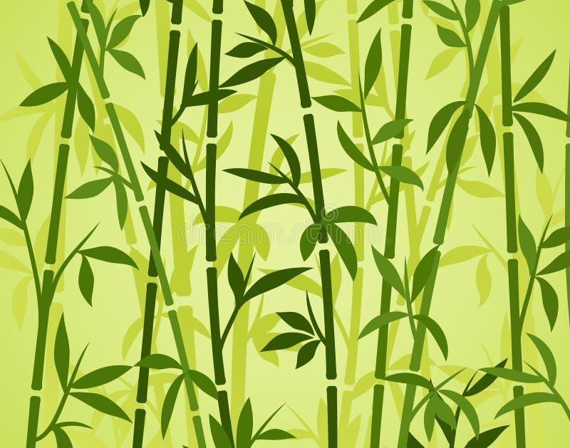 Трава обоев завода бамбуковой предпосылки японская азиатская Бамбуковая картина вектора дерева иллюстрация вектора