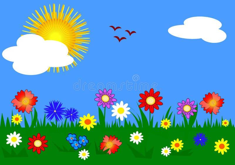 трава цветков иллюстрация штока