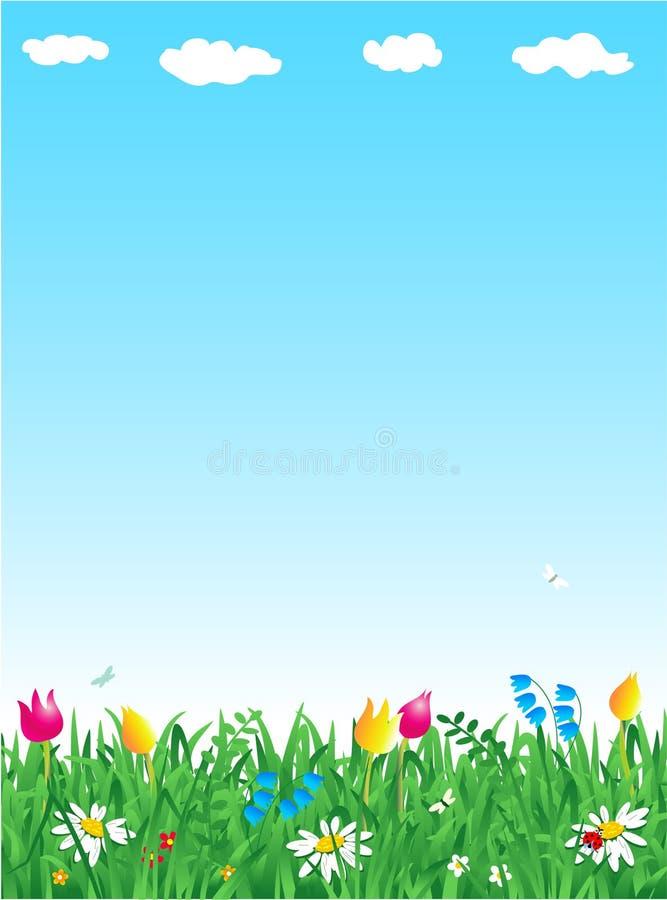 трава цветков иллюстрация вектора
