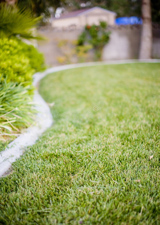 трава landscaped ярд стоковые фотографии rf