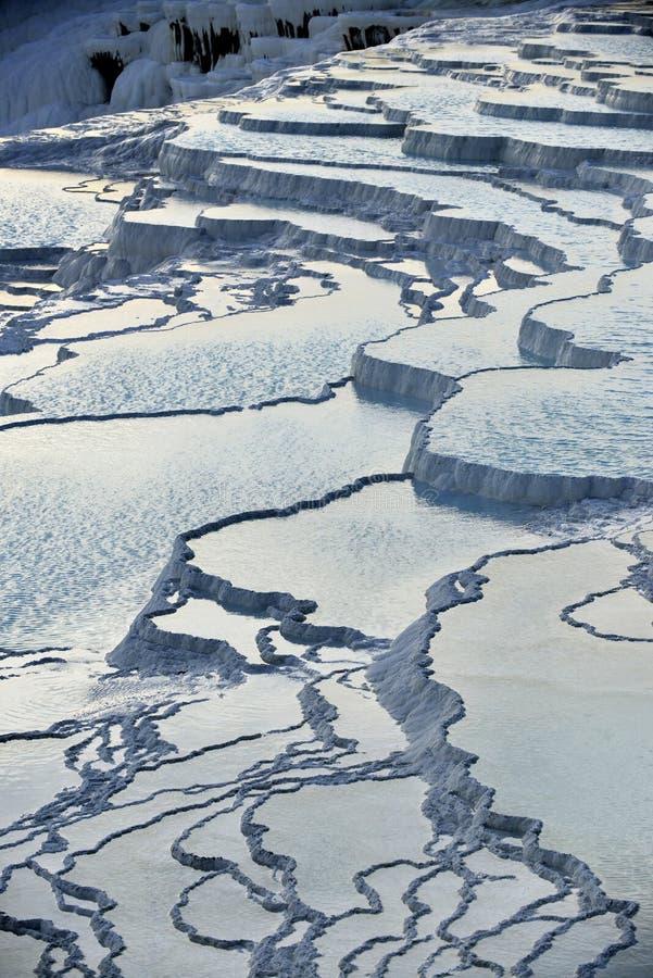 травертин террас pamukkale стоковое изображение