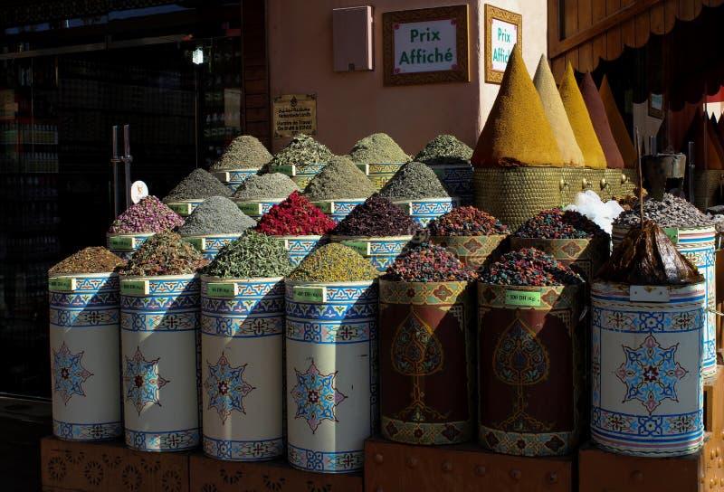 Травы на рынке ` s Marrakesh стоковые изображения
