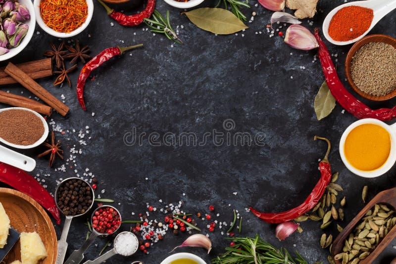 Травы, condiments и специи стоковые фото