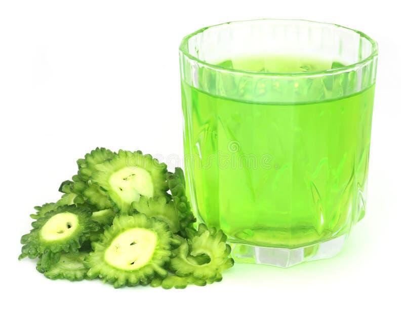 Травяной сок зеленого momodica стоковые фото