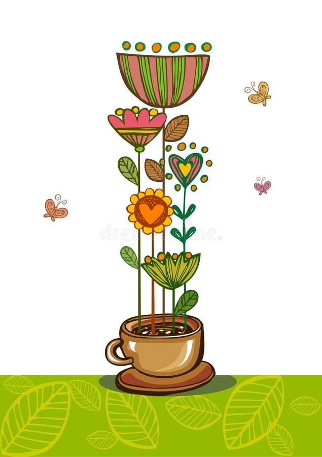 травяной чай иллюстрация штока