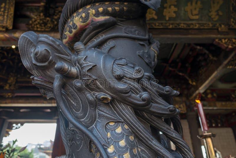 Традиционная архитектура старого китайского виска в Тайване стоковая фотография rf