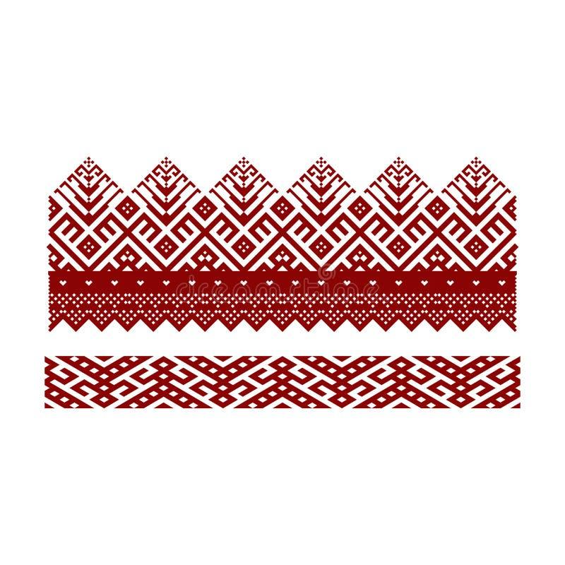 Традиционная вышивка Иллюстрация вектора этнического безшовного ornamental иллюстрация штока
