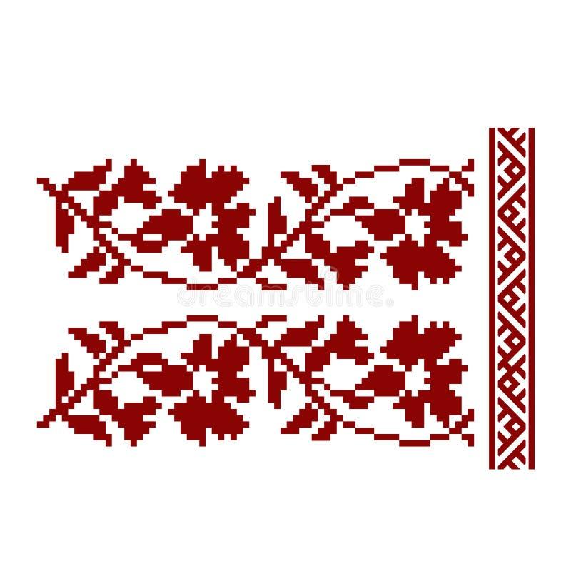 Традиционная вышивка Иллюстрация вектора этнического безшовного ornamental иллюстрация вектора