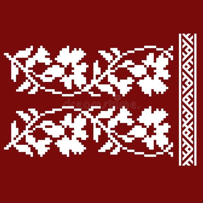 Традиционная вышивка Vector иллюстрация этнических безшовных орнаментальных геометрических картин для вашего дизайна иллюстрация вектора
