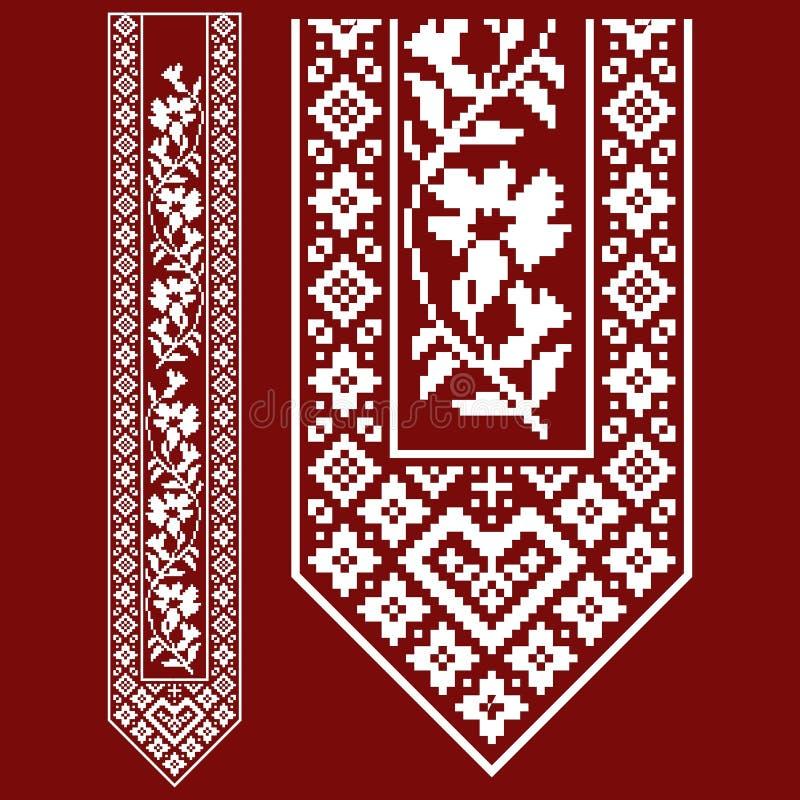 Традиционная вышивка Vector иллюстрация этнических безшовных орнаментальных геометрических картин для вашего дизайна иллюстрация штока