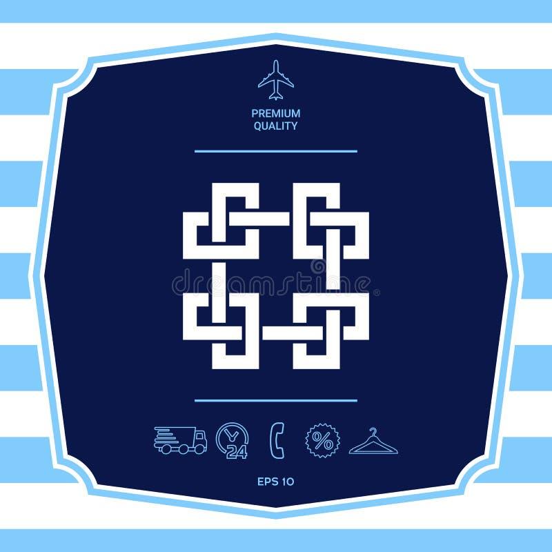 Традиционная геометрическая восточная арабская картина Элемент для вашего дизайна - логотип стоковые фото