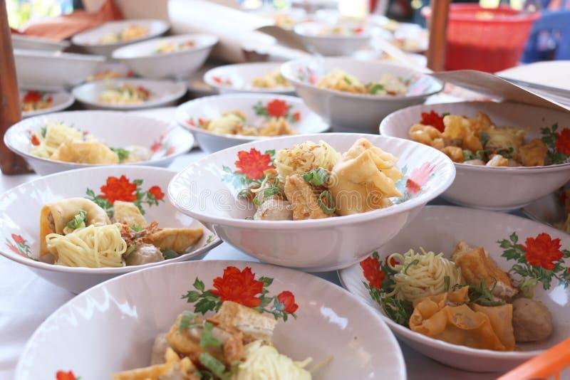 Традиционная еда в Индонезии вызвана Baso стоковое фото