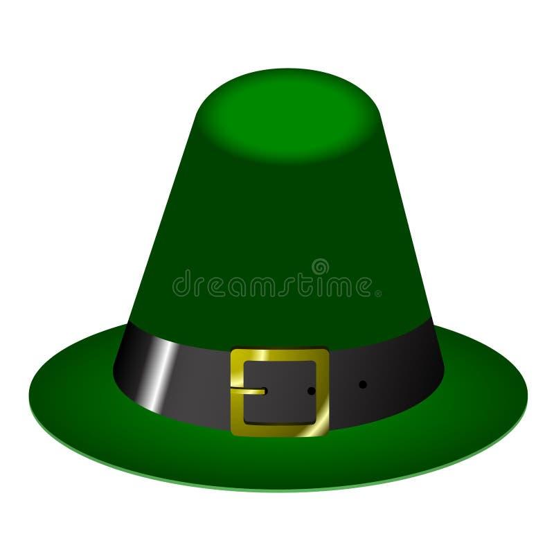 Традиционная ирландская шляпа иллюстрация вектора