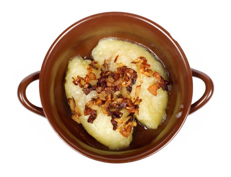 Традиционная литовская еда Cepelinai стоковое изображение rf