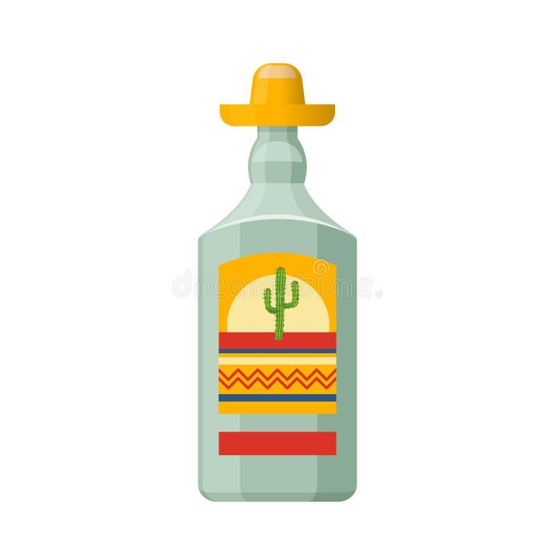 Традиционная мексиканская текила питья спирта в стекле бесплатная иллюстрация