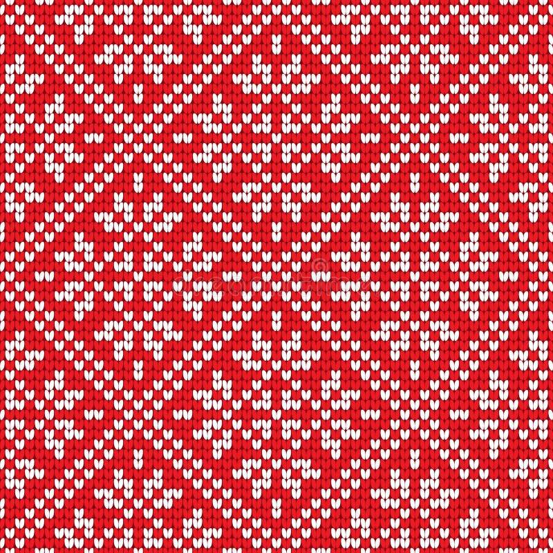 Традиционная скандинавская картина Нордическая этническая безшовная связанная предпосылка иллюстрация вектора