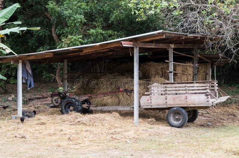 Традиционная тайская тележка фермы стоковое изображение rf
