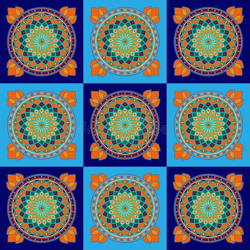 Традиционная форма вышивки, сплетенная тунисскими женщинами иллюстрация штока