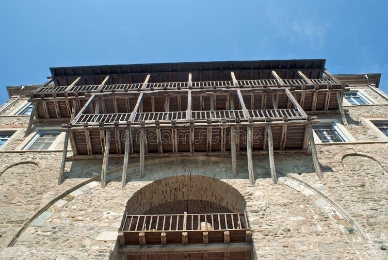 Традиционное византийское зодчество на Маунте Athso стоковое фото rf