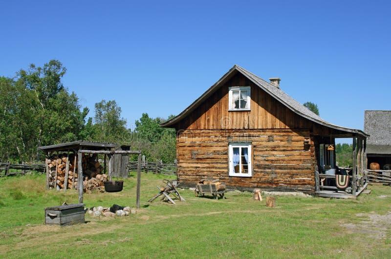 традиционное канадской дома сельское стоковые фотографии rf